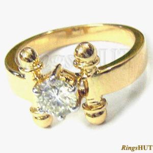 Minőségi arany eljegyzési gyűrű